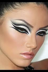 black swan eye makeup swan lake make up as the background for my ballerina zombie make