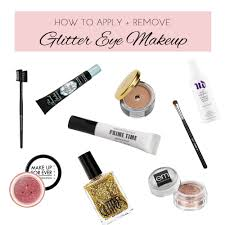 tips for applying glitter