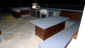Ultra Modern Outdoor Kitchen Table  Bench OUTDOOR LIVING FLORIDA - Modern outdoor kitchens