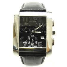 fendi mens croc embossed leather orologi watch black 24533