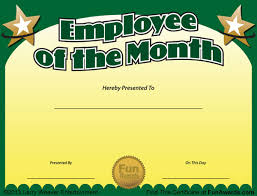 employee of month employee of the month certificate free funny award template