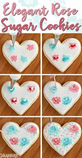 valentine s day sugar cookies photo tutorial showing how to make an elegant rose design out