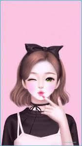 Cute Girl Wallpaper Cartoon ...