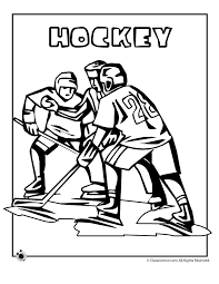 Olympic Hockey Coloring Page Woo Jr Kids Activities