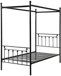 Special Prices on Twin size Sturdy Metal Canopy Bed Frame in Black ...