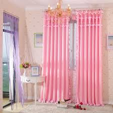 Charming Pink And Green Bedroom Curtains