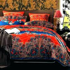 red comforter set twin style sets boho quilt hollywood duvet cover cotton bedding queen king size