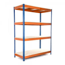 heavy duty shelving racking blue and orange 4 levels 1800 x 1500 x 450 racking solutions