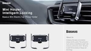 Автомобильный <b>держатель Baseus Mini Electric</b> (SUHW01-01 ...