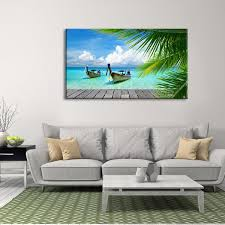 on boat wall art with tropical boat multi panel canvas wall art elephantstock