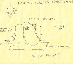 pendersleigh sons cartography s map of rowland heights