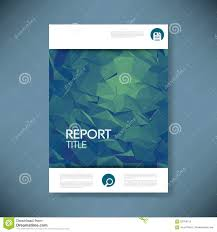 report cover template d low poly vector illustration report cover template 3d low poly vector