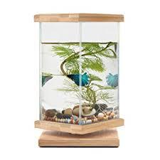 office desk aquarium. segarty 360 degree revolving desktop fish tank bamboo unique bowls with glass square jar office desk aquarium