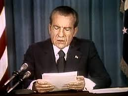 Image result for Nixon makes the announcement under considerable pressure