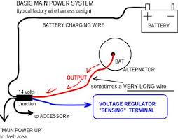 ford alternator wiring a up ford diy wiring diagrams ford 3 wire alternator diagram nilza net