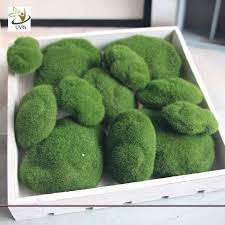 Decorative Moss Balls Different Size Fuzzy Artificial Decorative Moss Balls Fake Rock 47