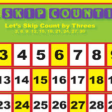 Counting By 3 Chart Skip Counting Chart By 3s Digital Download