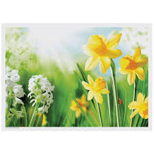 Spring Flower Paper Napkins Spring Flowers Daffodils Paper Placemats