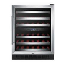 36-Bottle Wine Cooler with Two Temperature Zones