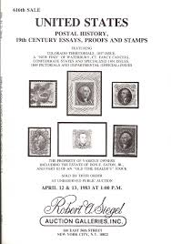 buy united states proofs stamps and covers stamp auction catalog united states postal history 19th century essays proofs and stamps stamp auction catalog robert a siegel 616 12 13 1983
