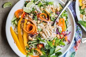 rice noodle salad this cool summer salad is bursting with thai flavors and asian