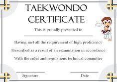 Taekwondo Player Diet Chart 14 Best Taekwondo Certificate Template Images Certificate