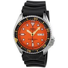 seiko diver orange dial automatic men s watch skx011j1 diver seiko diver orange dial automatic men s watch skx011j1