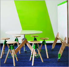 height adjule round tables and chairs for group work