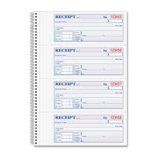 adams sc spiral part money rent receipt book sheet s adams sc1182 spiral 2 part money rent receipt book 200 sheet s spiral bound 2 part 2 75 x 7 62 form size assorted sheet s 1 each abfsc1182