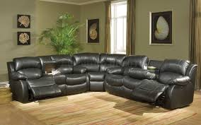 Black Leather Sectional Sofa With Recliner Black Sectional Sofa With Recliners Cleanupfloridacom