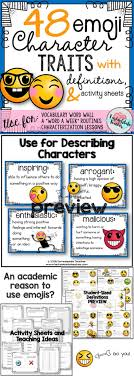 best ideas about character traits activities emoji character traits