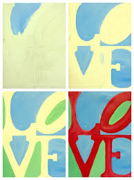evolution of love painted painting with a twist