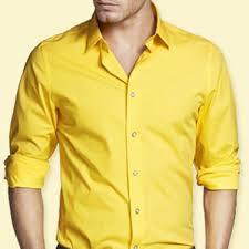 Yellow Designer Shirt Mens Mens Bright Yellow Dress Shirts Polo T Shirts Outlet
