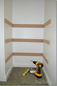 7 simple steps to create easy built in closet storage lookin good build a closet closet shelves closet storage