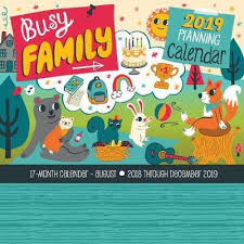 17 Month Calendar Busy Family Planning Calendar 2019 Editors Of Rock Point