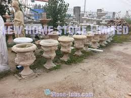 Decorative Large Urns hand carved stone garden planters and urns outdoor decorative 33