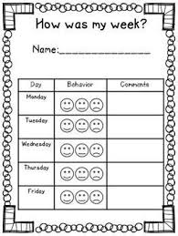 Conduct Chart Printable Elementary Behavior Log Classroom Mangagement