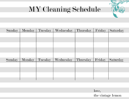 House Cleaning House Cleaning Organization Charts For Kids
