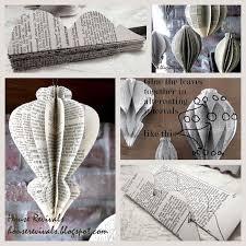 Christbaumschmuck Origamihängerchen Aus Alten Buchseiten
