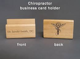 wooden business cards chiropractor personalized wooden business card holder dc