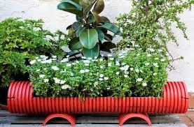 Garden Junk Creative Ideas Old Water Drain Flower Planter