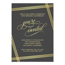 50th Anniversary Party Invitations Modern Elegance 50th Wedding Anniversary Party Invitation