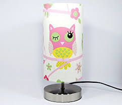 lighting for girls bedroom. owl lamp light lampshade pink bedside bedroom table desk lamps night girls woodland lighting for