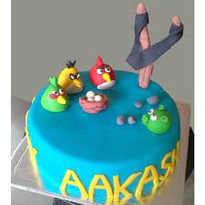 Blue Angry Birds-1 kg- Delicious Blue angry bird cake is a ideal gift for  your kid