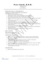 Dental Hygiene Resume New Grad Resume Cover Letter Template