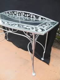 salterini wrought iron furniture. Hollywood Regency Vintage Salterini Wrought Iron Console Table For Sale Furniture A