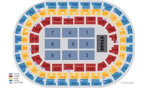 Seating Chart Chesapeake Energy Arena Chesapeake Energy Arena Oklahoma City Tickets Schedule