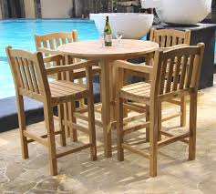 classic teak bar table set