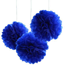 Paper Flower Balls To Hang From Ceiling Details About 10pcs Royal Blue Tissue Hanging Paper Pom Poms Flower Ball Wedding Party