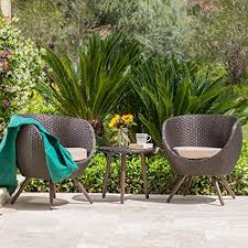 outdoor modern patio furniture modern outdoor. GDF Studio Patio Furniture ~ 3 Piece Outdoor Modern Wicker Conversation  (Chat) Set Outdoor Modern Patio Furniture